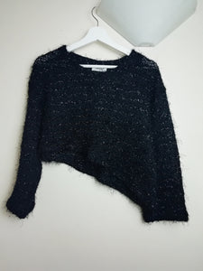 Cropped Asymmetric Knit