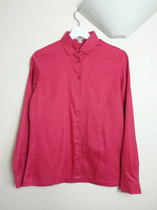 Jaeger Red Cotton Blouse
