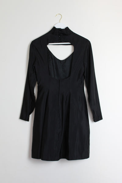 Black Cut-Out Vintage Cocktail Dress