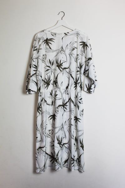 Comic Book Print 1980s Dress