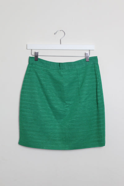 Emerald Green Silk Skirt