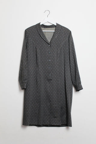 Grey Button-Down Dress