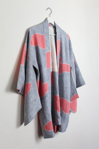 Pink and Lilac Cloud Silk Haori