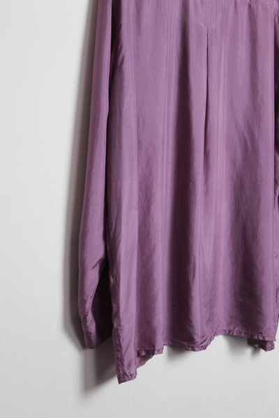 Purple Silk Long-sleeved Shirt