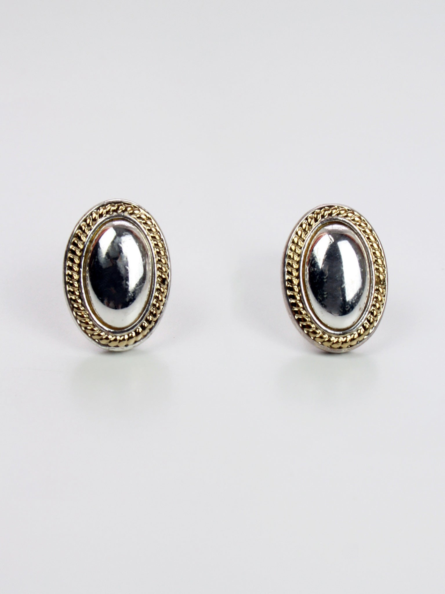 Silver Clip-on Vintage Earrings