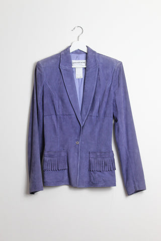 Thierry Mugler Purple Suede Jacket