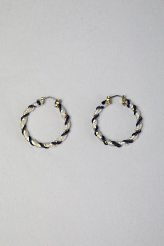 Twisting Rope Hoop Earrings