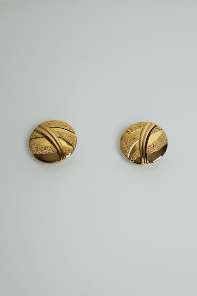 Statement Gold Disc Earrings