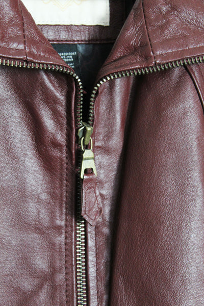 Burgundy Red Leather Jacket
