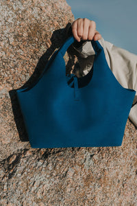 KWONN BAG Blue Tote vegan bags luxury bags handbags