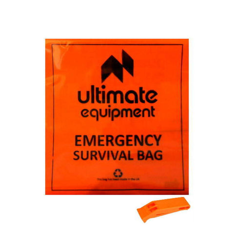 Ultimate Survival Bag Orange W/ Whistle - Heavy Duty 750g