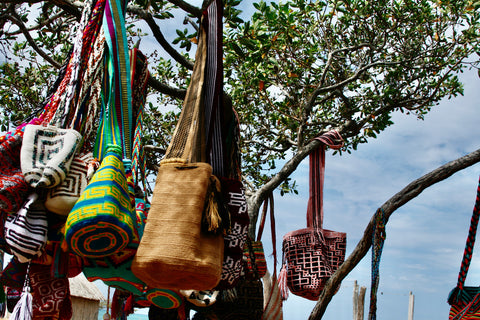 Bags for sale at a Wayuu Reservation