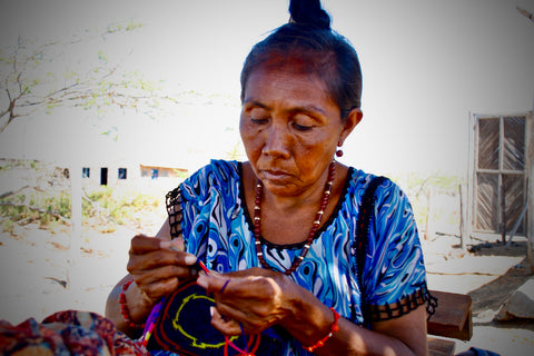 Our Handmade Leather Dog Leashes start with Fair Trade purchases with the Wayuu Indigenous Group