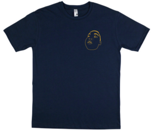 BIG NUZZ Unisex Blue & Gold Tee  *Pre-Sale Only*