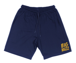 BIG NUZZ Unisex Blue & Gold Shorts  *Pre-Sale Only*