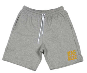 BIG NUZZ Unisex Grey and Gold Shorts  *Pre-Sale Only*