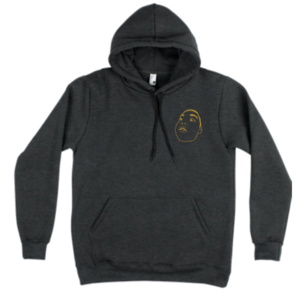 BIG NUZZ Unisex Charcoal and Gold Hoodie *Pre-Sale Only*