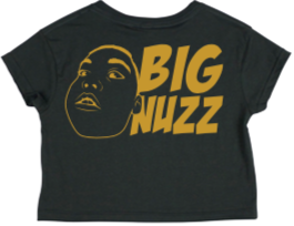 BIG NUZZ Women's Charcoal Crop T-Shirt  *Pre-Sale Only*