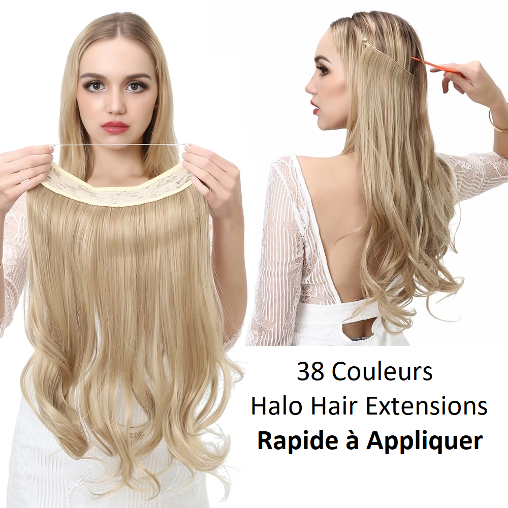 Extensions de cheveux Invisible Ombre Bayalage synthétique naturel - Halo
