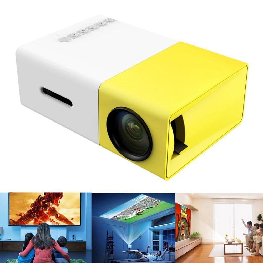 YG 300 USB mini projecteur LED 600 Lumen 3.5mm Audio 320x240 Pixels HDMI LCD projecteur lecteur multimédia à domicile