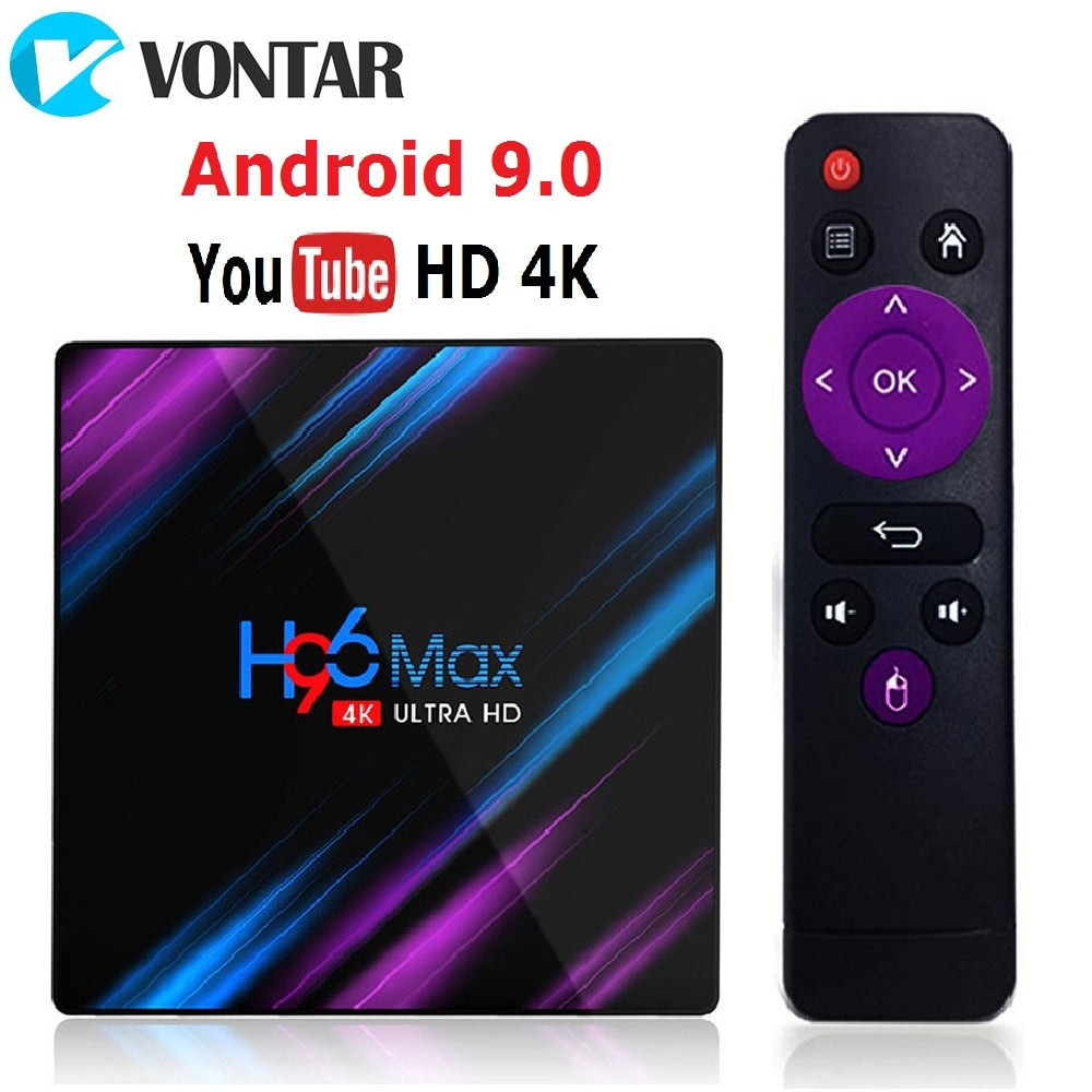 H96 MAX RK3318 Smart TV Box Android 9.0 4GB 32GB 64GB lecteur multimédia 4K Google Assistant vocal Netflix Youtube H96MAX 2GB16GB