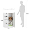Bonnlo Bathroom Cabinet with 4 Drawers 1 Cupboard