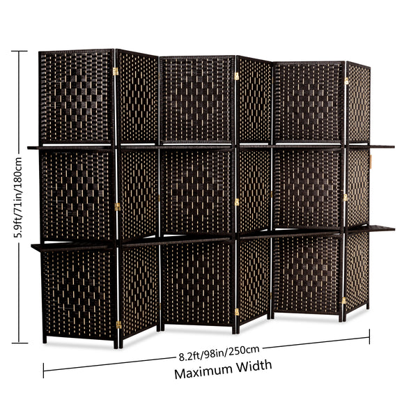 Bonnlo Rattan Room Divider (6Panels)