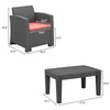 Bonnlo 3pcs Garden Furniture Set(Black)
