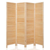 Bonnlo Wood Room Divider (Natural, 4 Panels)