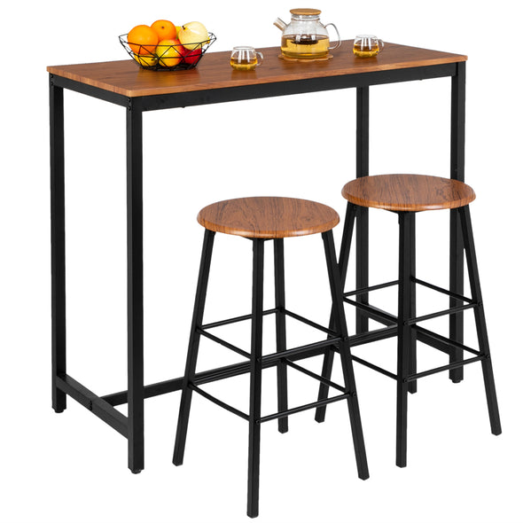 Bonnlo 3 Piece Counter Height Dining Table with 2 Stools