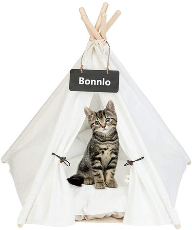 Bonnlo Pet Teepee Tent