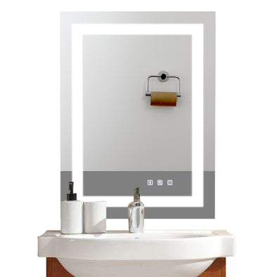 "Bonnlo 32""×24"" Dimmable Led Bathroom Mirror with Bluetooth Speaker&Touch Button&Anti-Fog Function"