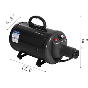 Bonnlo 3.2HP Pet Dryer Black