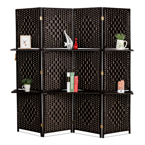 Bonnlo Rattan Room Divider (4Panels)