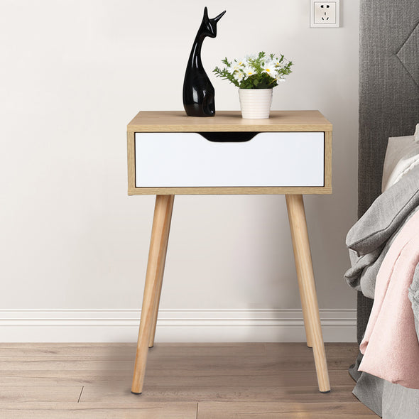 Bonnlo One-drawer Nightstand, Natural