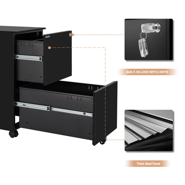 Bonnlo 2-Drawer Mobile File