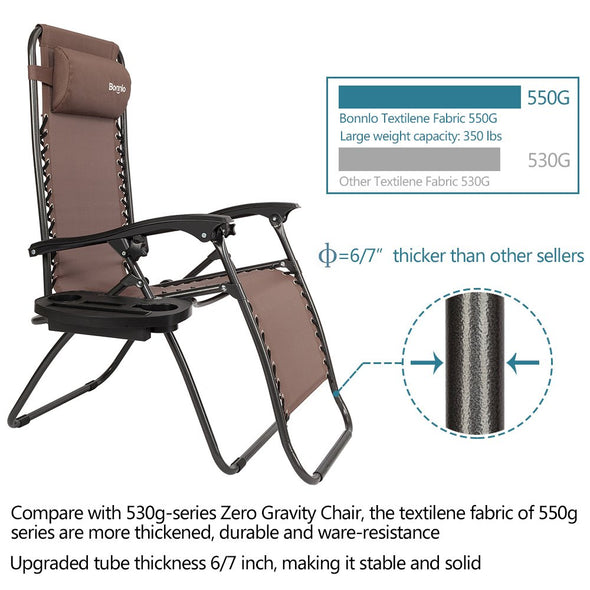 Bonnlo Folding Recliner Chair Pack 2(Brown)