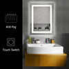 "Bonnlo 32""×24"" Dimmable Led Bathroom Mirror with Touch Button and Anti-Fog Function"