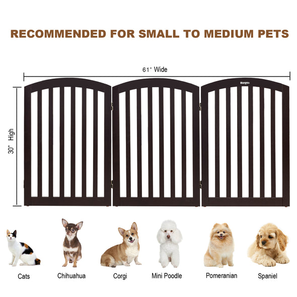 "Bonnlo Free Standing 30"" Tall Dog Gate"