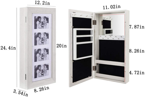 Bonnlo Jewelry Armoire Photo Frame Feature