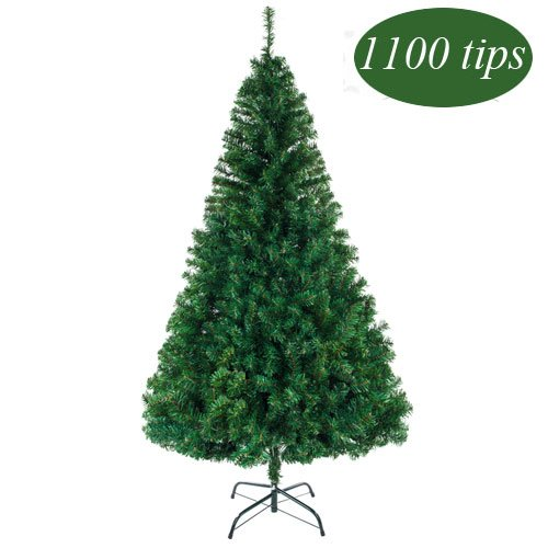 Bonnlo 7 Feet Artificial  Christmas Tree with Sturdy Metal Legs