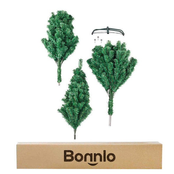 Bonnlo 6 Feet Artificial  Christmas Tree with Sturdy Metal Legs