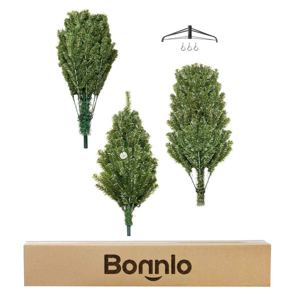 Bonnlo 9 Feet Artificial  Christmas Tree with Sturdy Metal Legs