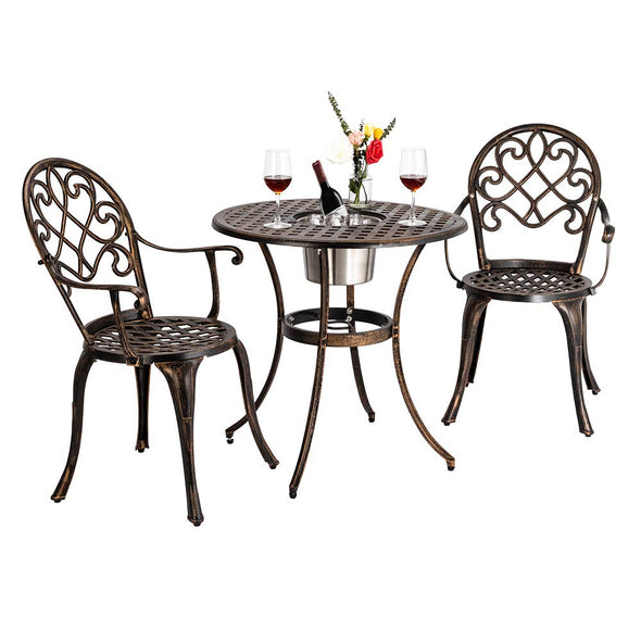 Bonnlo 3 Piece Bistro Set with Ice Bucket