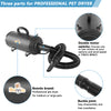 Bonnlo 4.2HP Pet Dryer Double Motor Black