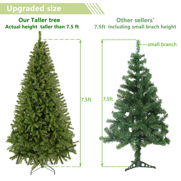 Bonnlo 7.5 Feet Artificial  Christmas Tree with Sturdy Metal Legs