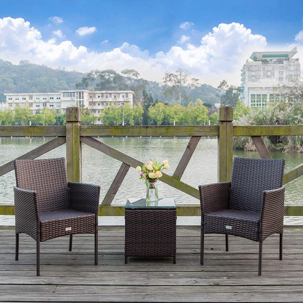 Bonnlo 3pc Wicker Patio Set
