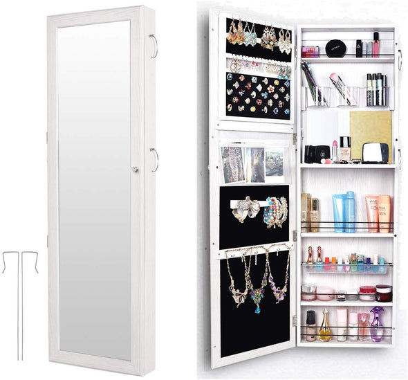 Bonnlo Jewelry Armoire Wall Mount&Door Hanging