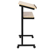 Bonnlo Mobile Wheeled Lectern Standing Podium