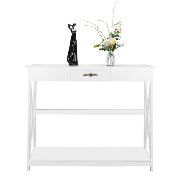 Bonnlo White Entryway Table